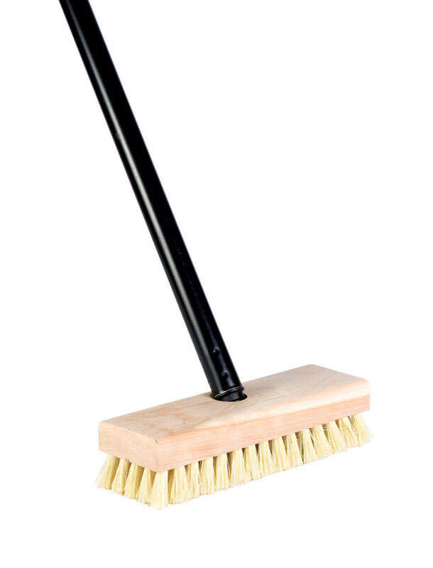 DQB  7-3/4 in. W Wood  Scrub Brush