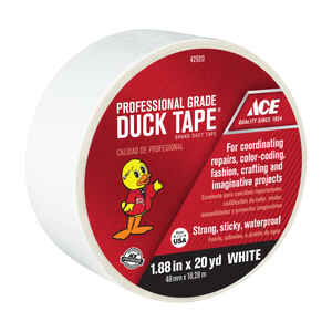 Ace  1.88 in. W x 20 yd. L White  Solid  Duct Tape