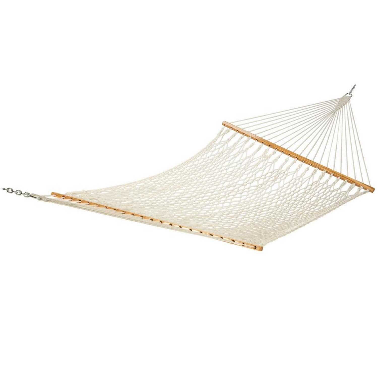 Castaway  60 in. W x 82 in. L 2 person  White  Hammock