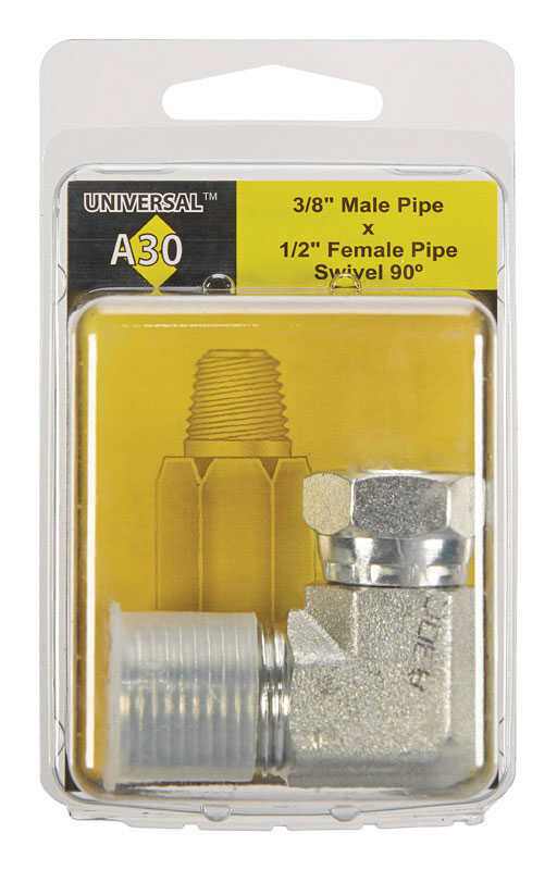 Apache  Metal  Hydraulic Adapter  3/8 in. Dia. x 1/2 in. Dia. 1 pk