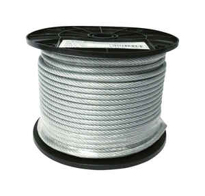 Baron  Clear Vinyl  Galvanized Steel  3/16 in. Dia. x 250 ft. L Cable