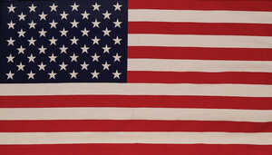 Valley Forge  American  50 in. W x 29 in. H Flag