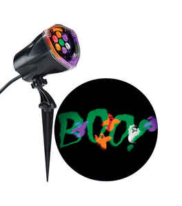 Gemmy  Whirl-A-Motion Static Boo  Lightshow Projector  15-3/4 in. H x 4-1/2 in. W x 9 in. L 1 pk