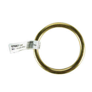 Campbell Chain  Polished  Solid Bronze  Solid Ring  150 lb. 2 in. L 1 pk