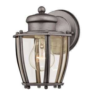 Westinghouse  Antique Silver  Incandescent  Wall Lantern