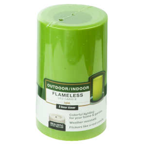 Paradise Garden  Green  Candle  5 in. H x 3 in. Dia.