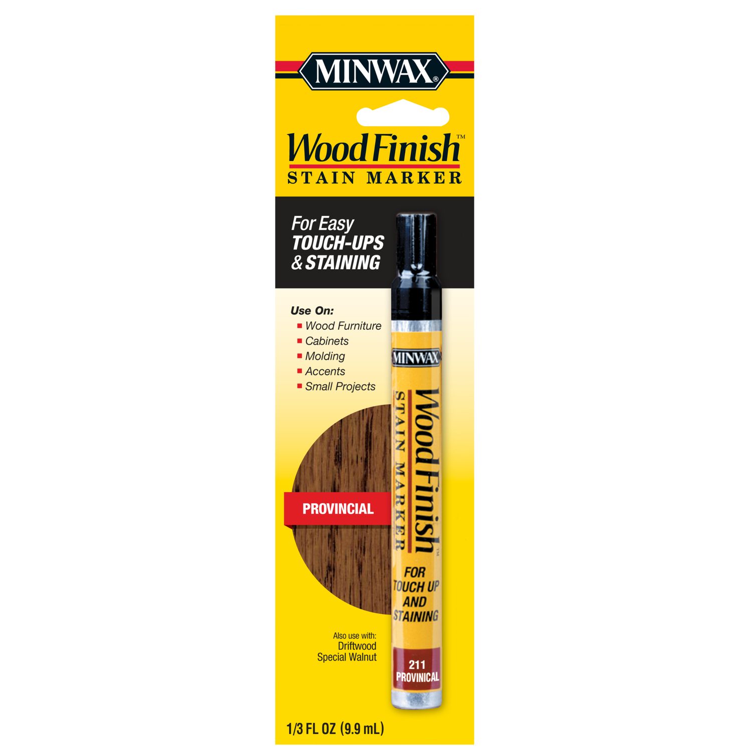Minwax Wood Finish Semi Transparent Provincial Oil Based Stain Marker 033