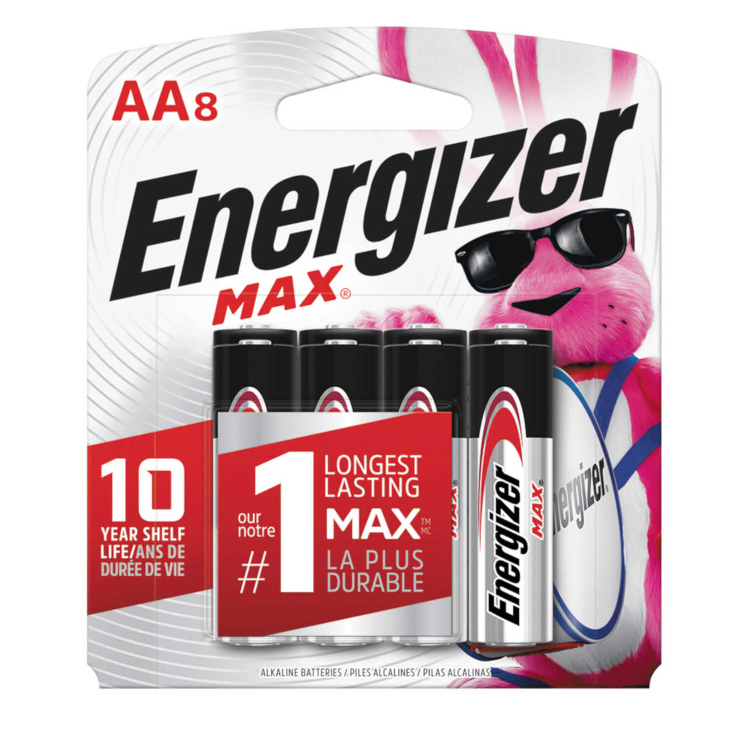 Energizer  MAX  AA  Alkaline  Batteries  8 pk Carded