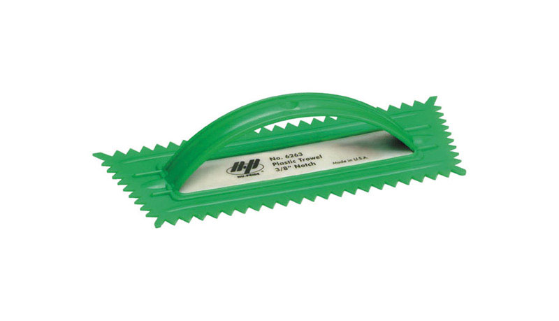 Marshalltown  QLT  4-1/4 in. W Notched  Plastic  Trowel