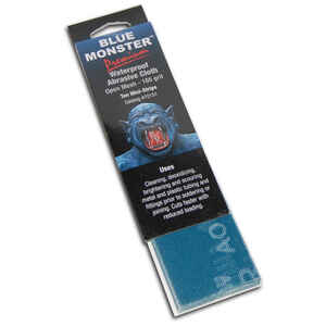 Mill Rose  Blue Monster  8 in. L x 2 in. W Aluminum Oxide  165 Grit Medium  Open Mesh Abrasive Cloth