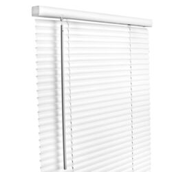 Living Accents  Vinyl  1 in. Blinds  52 in. W x 64 in. H White  Cordless
