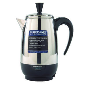 Farberware  Percolator  Black/Silver  8 cups