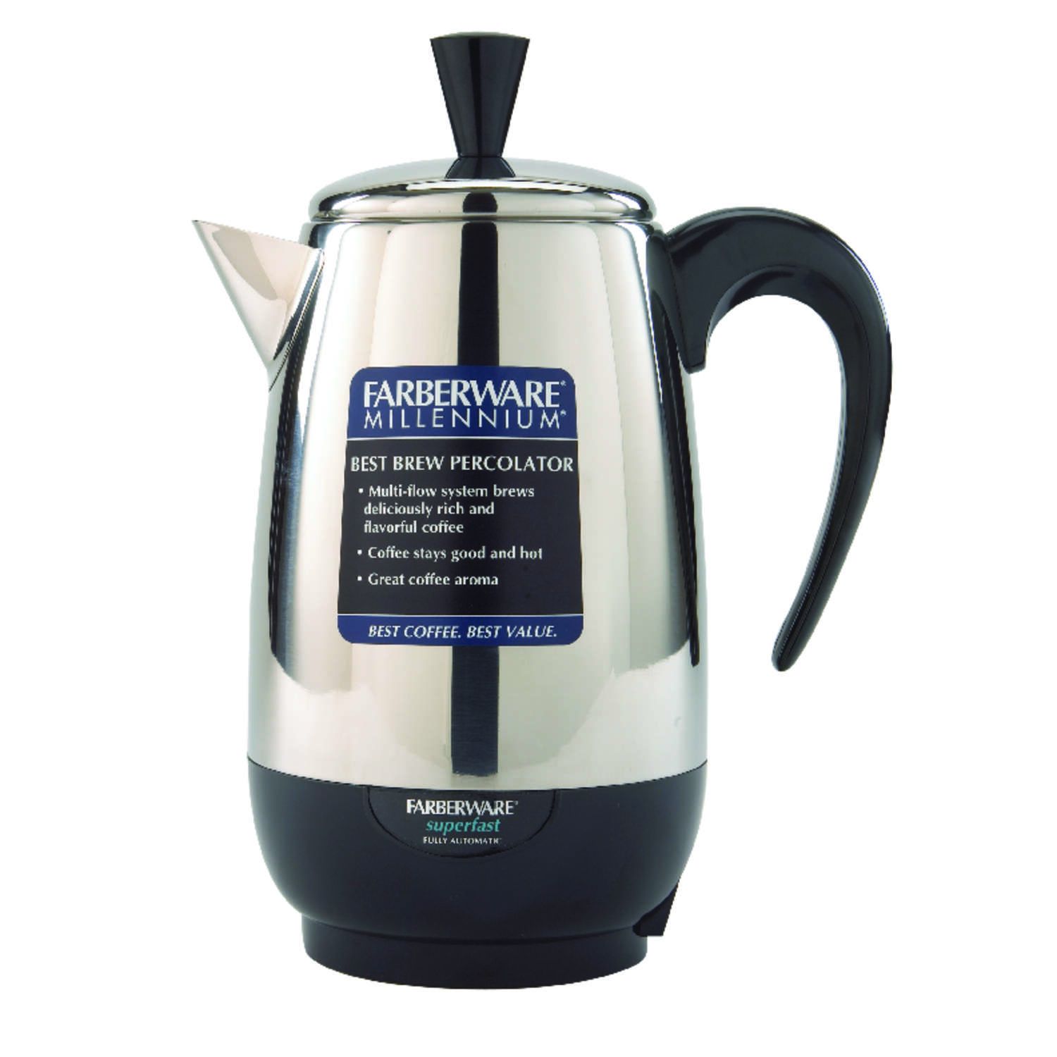 Farberware  8 cups Black/Silver  Percolator