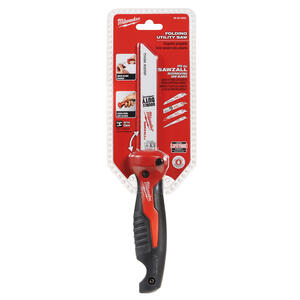 Milwaukee  6 in. Bi-Metal  Folding Jab Saw  18 TPI 2 pc.