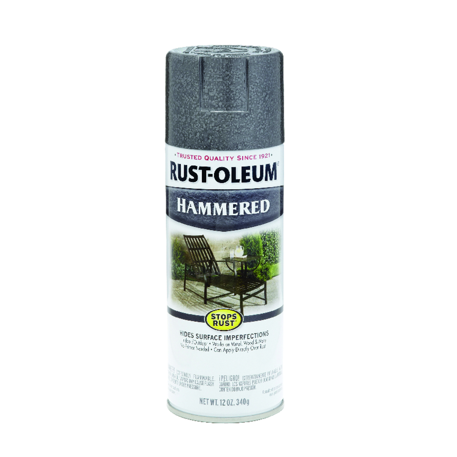 Rust-Oleum  Stops Rust  Gloss  Gray  Spray Paint  12 oz.