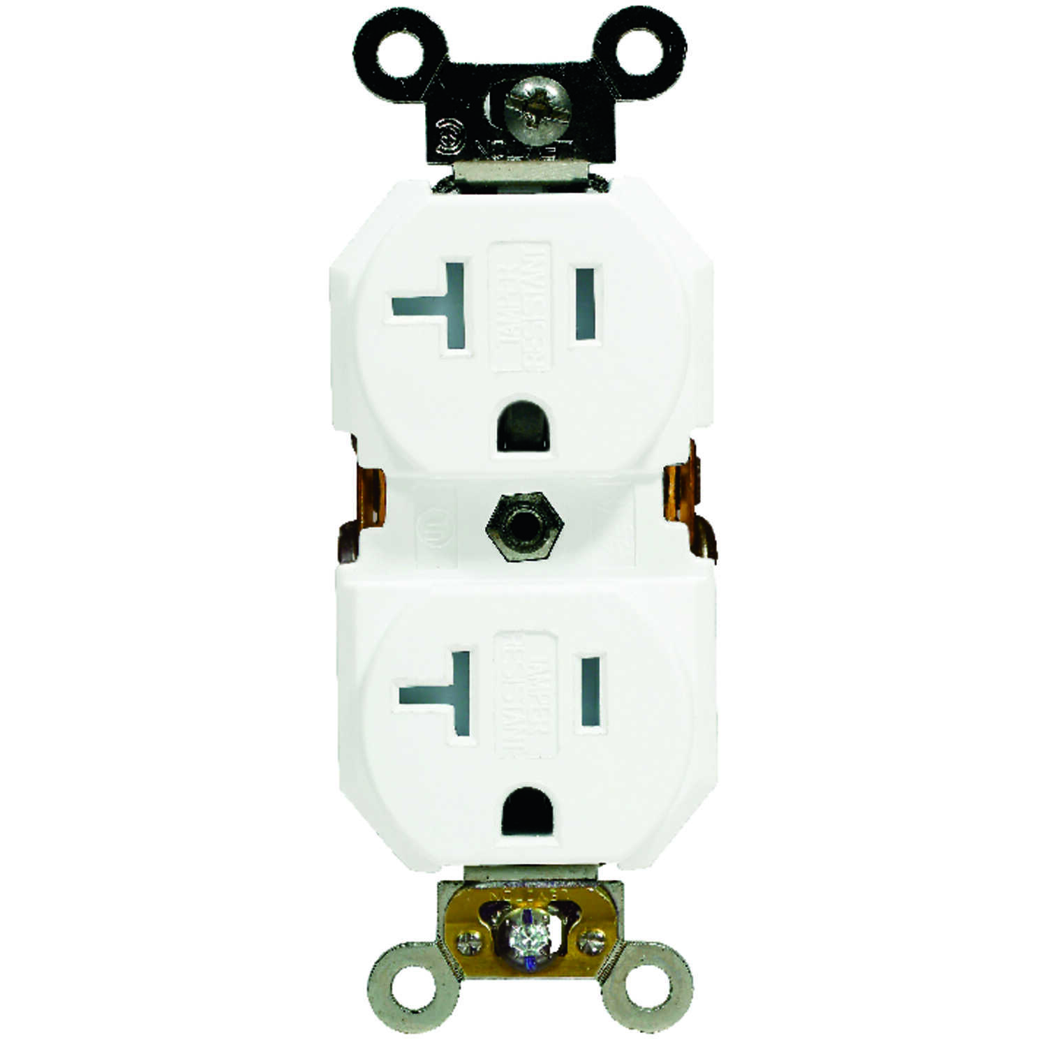 Leviton  20 amps 125 volt White  Outlet  5-20R  1 pk