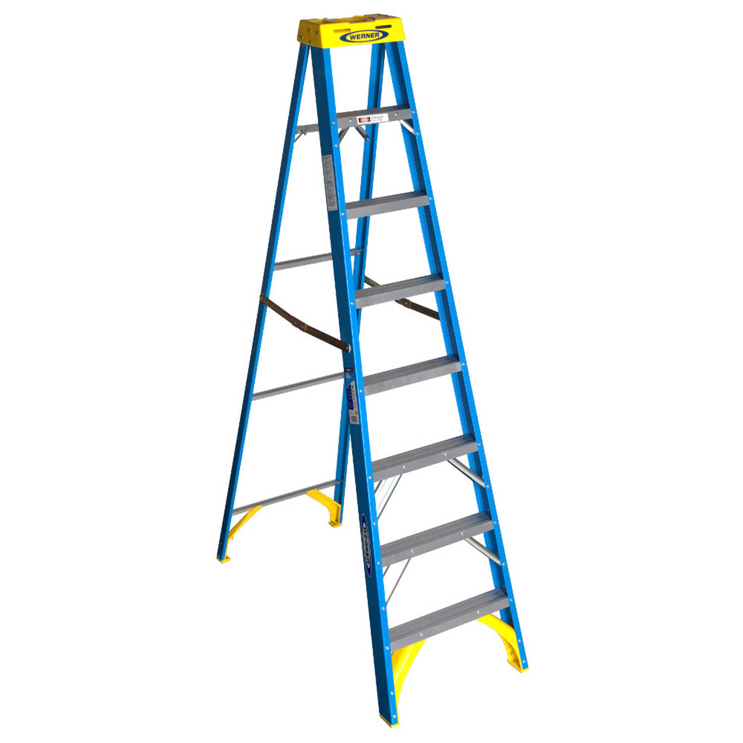 Werner  8 ft. H x 25 in. W Fiberglass  Type I  250 lb. capacity Step Ladder