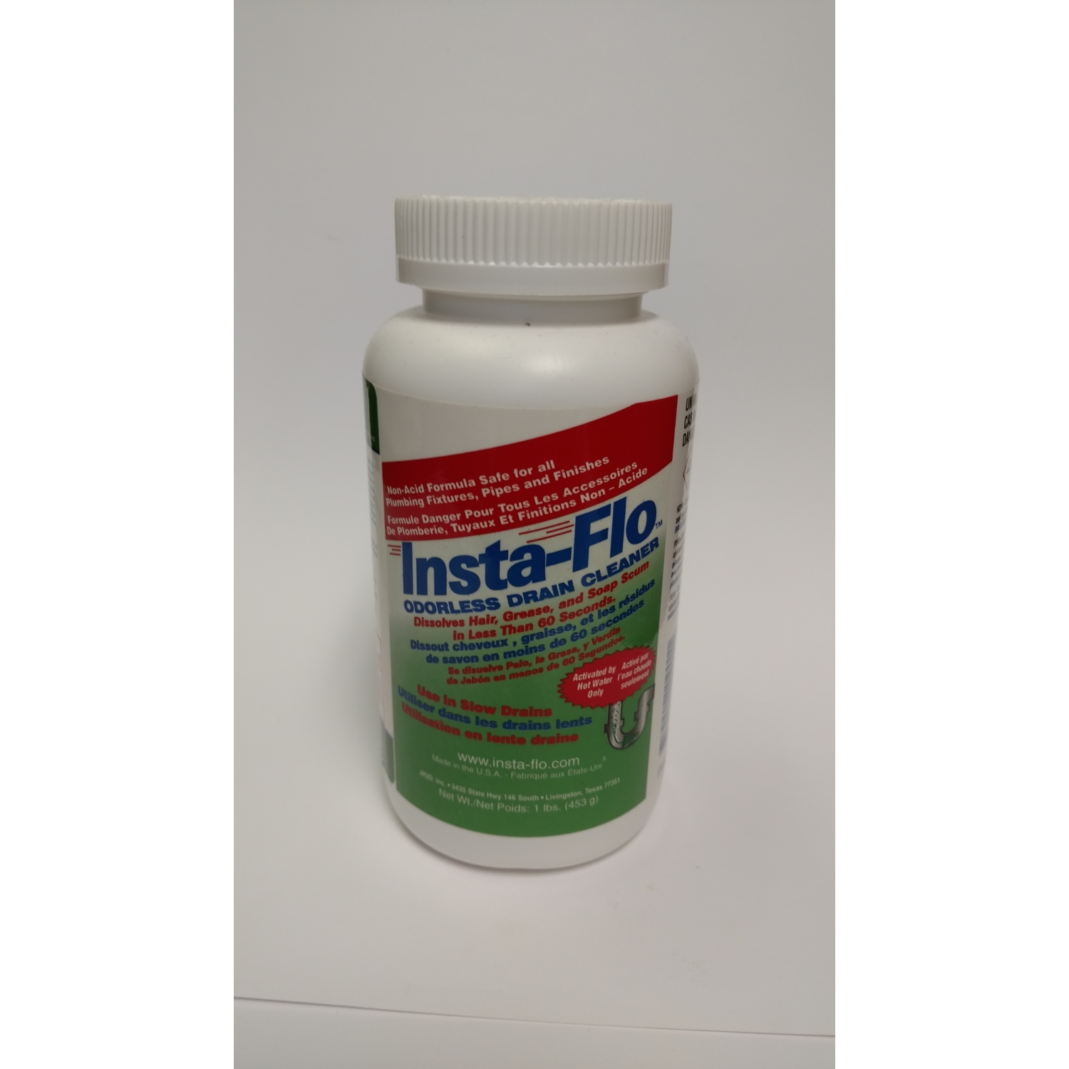 Insta-Flo  Crystal  Drain Cleaner  1 lb.