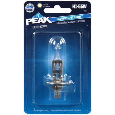 Peak Classic Vision Halogen High/Low Beam Automotive Bulb H1-55W