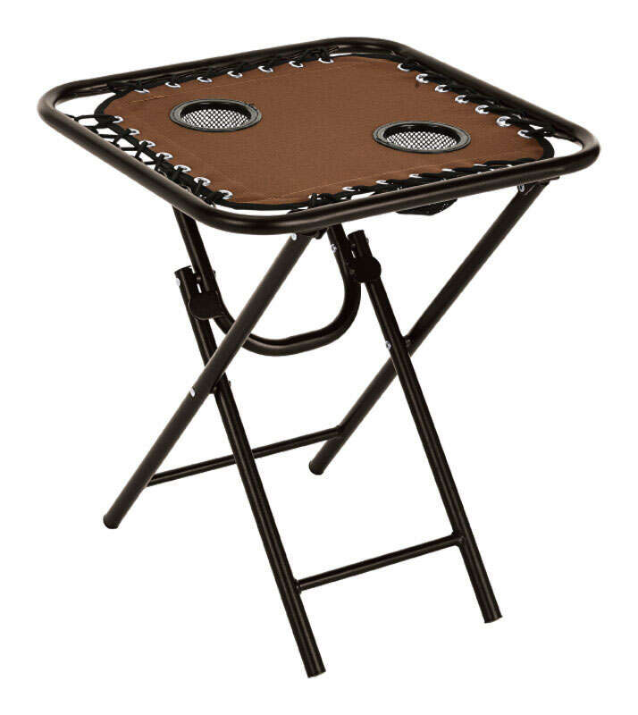 Living Accents  Bungee  Brown  Folding  Square  Table