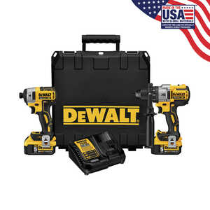 DeWalt  XR  Cordless  2 tools Hammer Drill and Impact Driver Kit  20  Brushless