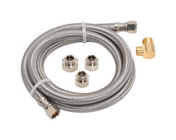 Ace Hardware  3/8 in. FIP   x 1/2 in. Dia. FIP  72 in. Braided Stainless Steel  Dishwasher Supply Li