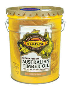 Cabot  Transparent  Natural  Natural Oil/Waterborne Hybrid  Australian Timber Oil  5 gal.