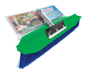 SweepEase  StingRay 100 percent Poly Bristle, AquaDynamic  Pool Brush  7 in. H x 2 in. W x 18 in. L