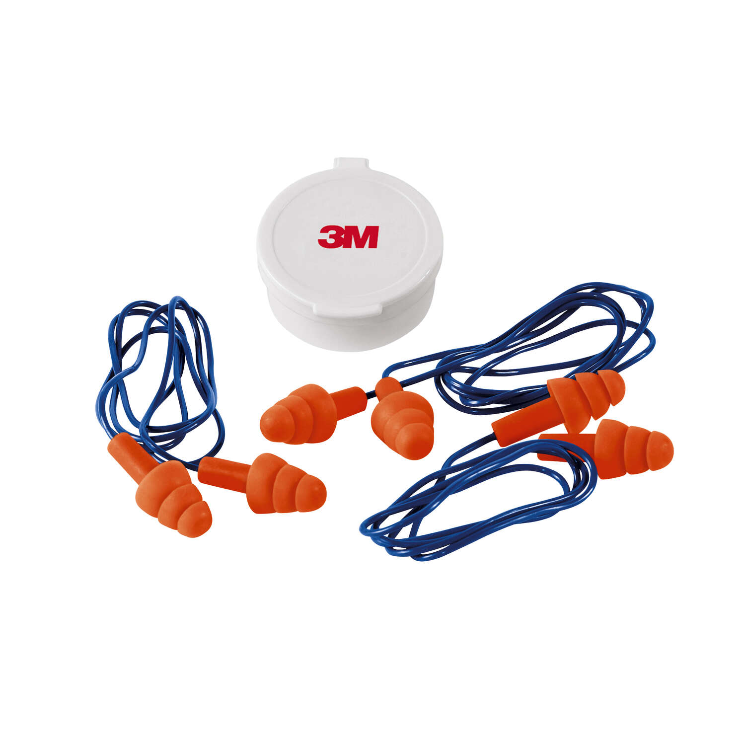 3M  25 dB Reusable  Polyurethane Foam  Ear Plugs  Orange  3