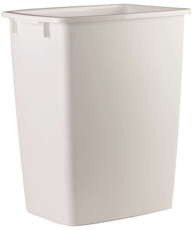 Rubbermaid 9 gal. White Plastic Open Top Trash Can