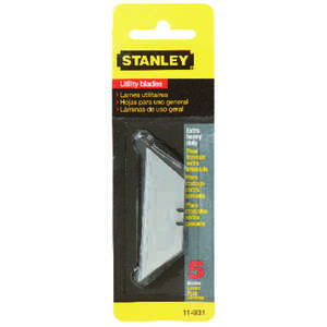 Stanley  0.035 in.  x 2-7/16 in. L Extra Heavy Duty  Steel  5 pk Replacement Blade