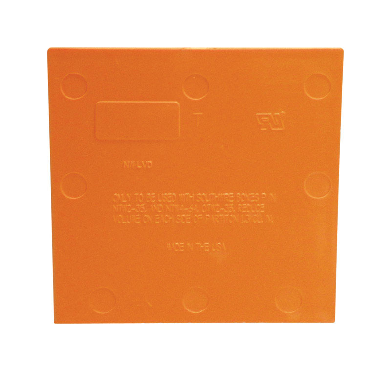 Cantex  4 in. PVC  Square  Orange  3 Gang  Divider Plate