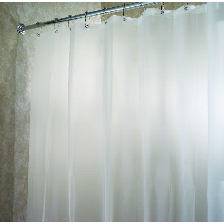 InterDesign 72 in. W x 72 in. H White Solid Shower Curtain Liner ...