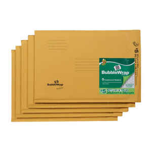 Duck  10.5 in. W x 15 in. L Yellow  Padded Envelope  5 pk