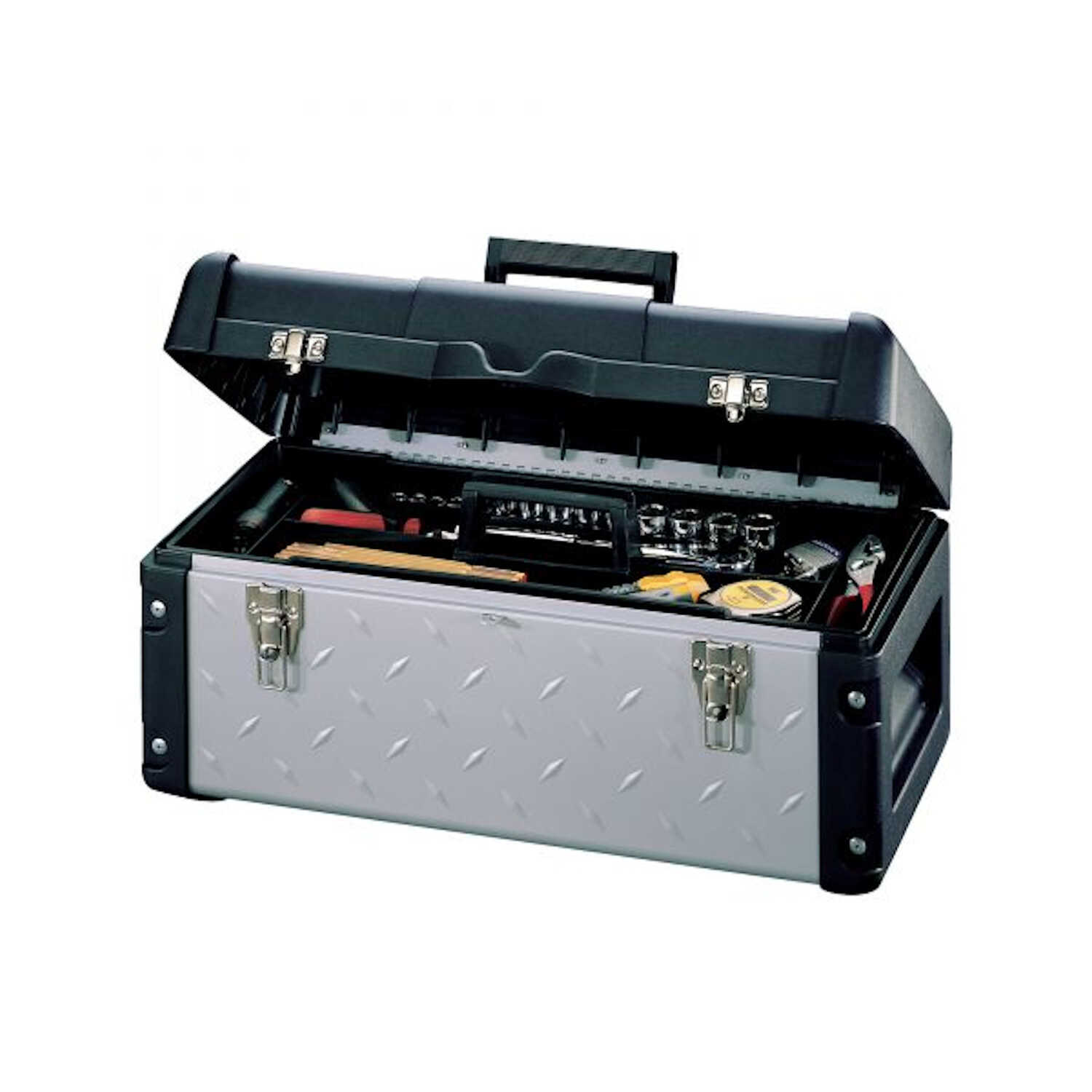 Stack-On  11.5 in. 22.5 in. W x 10.25 in. H Tool Box  Black  Metal/Plastic