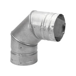 DuraVent  3 in. Dia. x 3 in. Dia. 90 deg. Galvanized Steel/Stainless Steel  Stove Pipe Elbow
