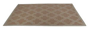 Linon Home Decor  9.5 ft. L x 6.5 ft. W Brown  Outdoor Rug