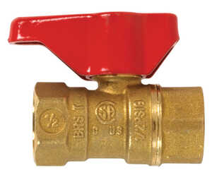 B & K  Gas Ball Valve  1/2 in. FPT   x 1/2 in. Dia. FPT  Brass  Two Piece
