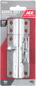 Ace Barrel Bolt 4 in. Zinc For Doors, Chests and Cabinets