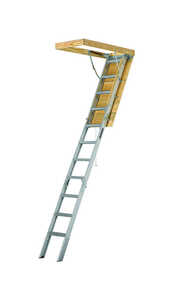 Louisville  10.3 ft. H x 22.5 in. W Aluminum  Attic Ladder  Type IAA  375 lb.