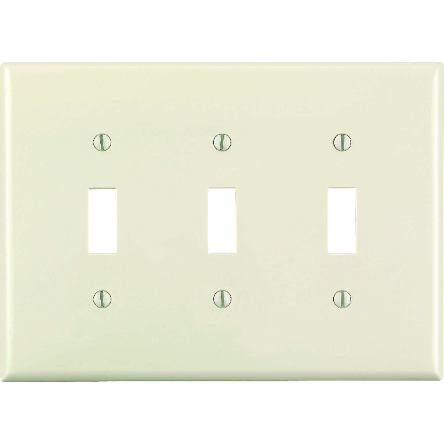 Leviton  Almond  3 gang Thermoset Plastic  Toggle  Wall Plate  1 pk