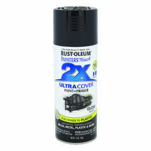 Rust-Oleum  Painter's Touch Ultra Cover  Gloss  Black  Spray Paint  12 oz.