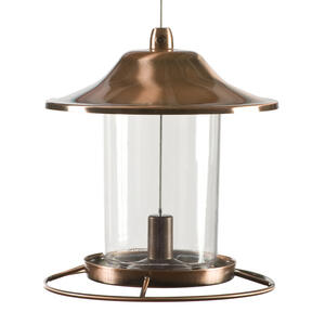 Perky-Pet  Wild Bird  2 lb. Copper  Bird Feeder  1 ports