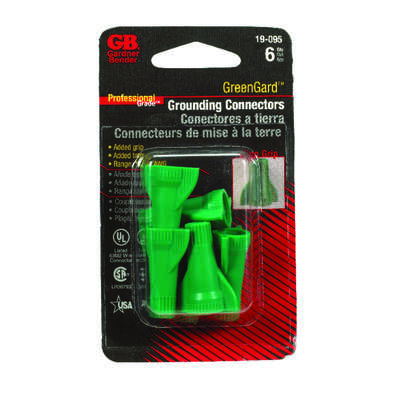 Gardner Bender GreenGard 14-10 Ga. Copper Wire Wire Connector Green 6 pk