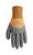 Wells Lamont Universal Latex Coated Gloves Black/Tan M 1 pair