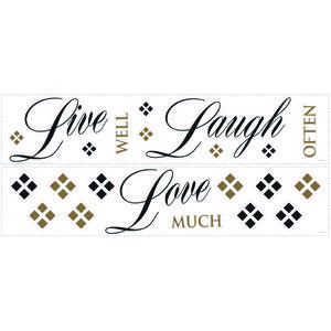 Roommates  7.75 in. W x 7.75 in. L Live Laugh Love  Peel and Stick  Wall Decal