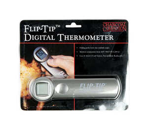 Charcoal Companion  Flip Tip  Grill Thermometer  6.6 in. H x 1.9 in. W x 1.4 in. L Stainless Steel
