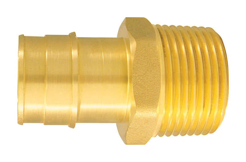 Apollo  Expansion PEX / Pex A  1 in. PEX   x 1 in. Dia. MPT  Brass  Male Adapter