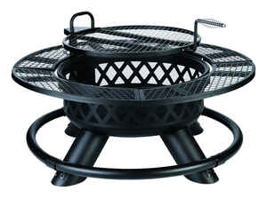 Living Accents  Ranch  Wood  Fire Pit/Grill  26 in. H x 47 in. W x 47 in. D Steel