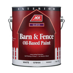 Ace Gloss White Oil-Based Barn and Fence Paint Exterior 1 gal.